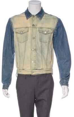 Versace Denim Button-Up Jacket