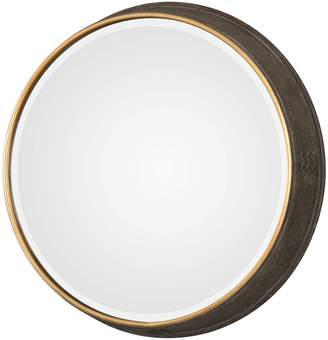 Uttermost Sturdivant Antiqued Gold Round Mirror