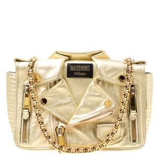 5270f52464 Moschino Biker Gold Leather Handbag