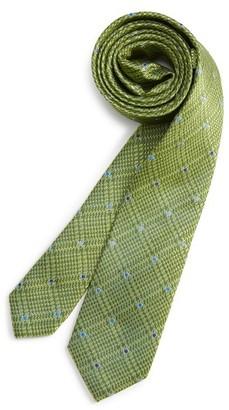 Boy's Michael Kors Check Silk Tie $36 thestylecure.com