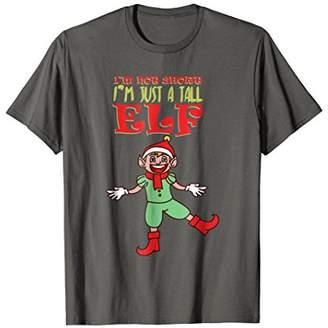 I'm Not Short Just A Tall Elf T-Shirt Small Christmas Tee