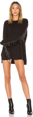 Baja East Embellished Sleeve Dress