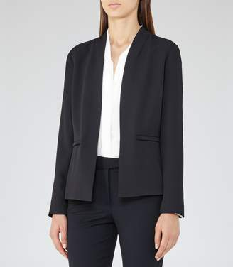 Reiss Bailey - Open-front Jacket in Night Navy