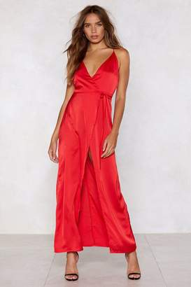Nasty Gal Satin High Spirits Maxi Dress