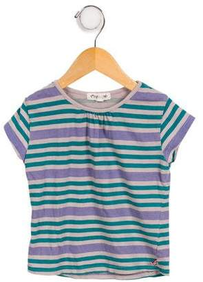 Appaman Fine Tailoring Girls' Striped Short Sleeve Top