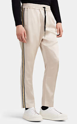 Cmmn Swdn Men's Buck Side-Striped Satin Track Pants - Beige, Tan