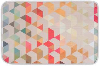 Khl Rugs KHL Rugs Hexagons Contemporary Geometric Printed Comfort Mat