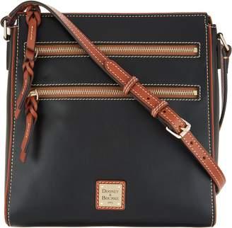 Dooney & Bourke Smooth Leather Large Triple Zip Crossbody - Peyton