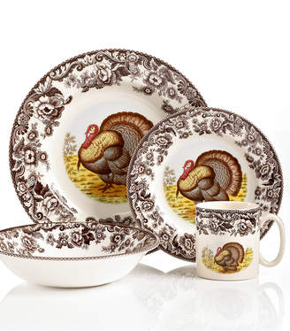 Spode Dinnerware, Woodland Turkey 4 Piece Place Setting