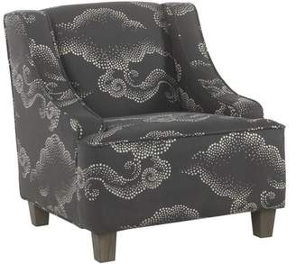HomePop Juvenile Swoop Arm Accent Chair, Multiple Colors