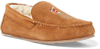 Polo Ralph Lauren Markel Suede Moccasin Slipper $75 thestylecure.com