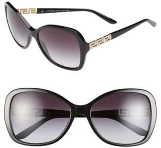 Versace 58mm Butterfly Sunglasses