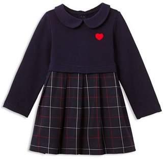 Jacadi Girls' Claudine-Collar Embroidered-Heart Dress - Baby