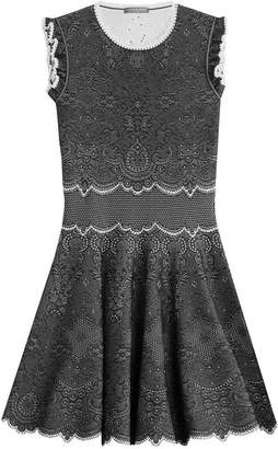 Alexander McQueen Knit Cocktail Mini-Dress