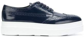 Prada platform brogue sneakers