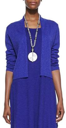 Eileen Fisher 3/4-Sleeve Slub Cropped Cardigan, Petite $178 thestylecure.com