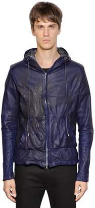 Giorgio Brato Hooded Nappa Leather Jacket