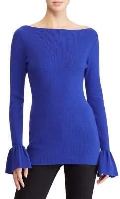 Lauren Ralph Lauren Petite Ruffle-Cuff Sweater