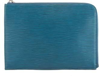 Louis Vuitton Bleu Celeste Epi Leather Pochette Jour PM Clutch (Pre Owned)