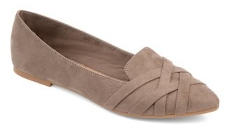 Brinley Co. Womens Pointed Toe Flat