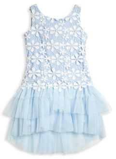Biscotti Little Girl's Pick-A-Posy Dress $95 thestylecure.com