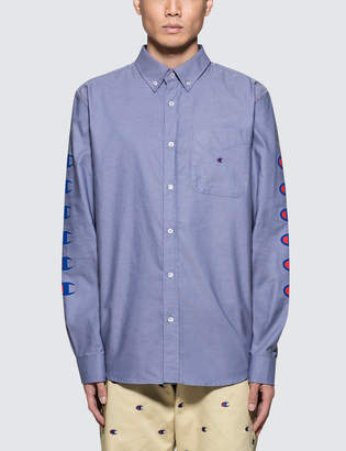 4c2d22561 Champion Reverse Weave Beams x Champion Sleeves Logo Shirt
