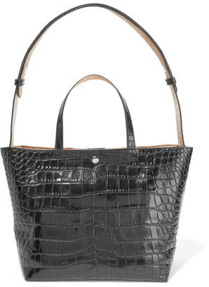 Elizabeth and James - Eloise Croc-effect Leather Tote - Black $495 thestylecure.com