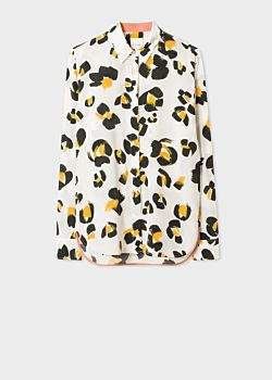Paul Smith Women's 'Painted Leopard' Print Silk Shirt