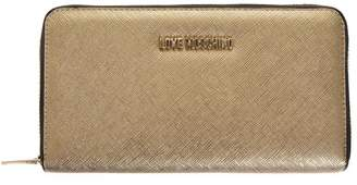 Love Moschino Gold Color Faux Leather Wallet