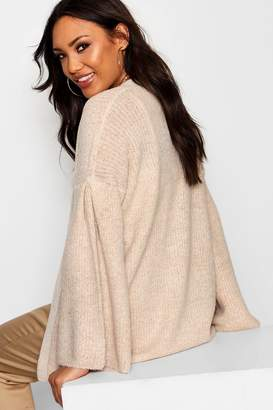 boohoo Flared Sleeve Open Front Cardigan