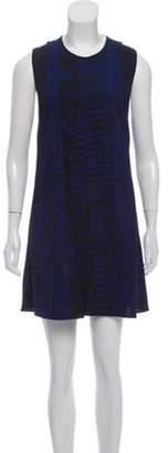 Proenza Schouler Sleeveless Shift Dress Blue Sleeveless Shift Dress