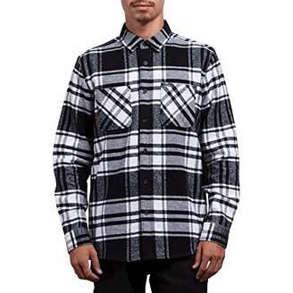 Volcom Men's Shader Modern Fit Woven Long Sleeve Button up Shirt