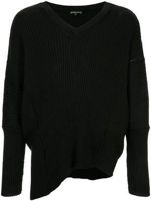 Ann Demeulemeester asymmetric V-neck jumper