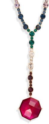 Kate Spade multicolor crystal Y-necklace