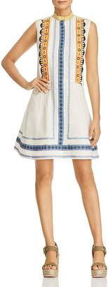 Tory Burch Adriana Embroidered Fit-and-Flare Dress