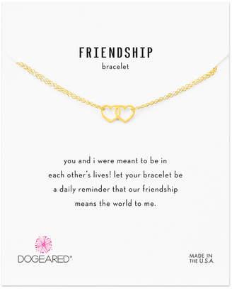 Dogeared Friendship 14K Over Silver Bracelet