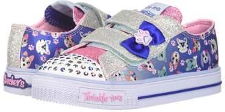 Skechers Twinkle Toes: Shuffles - Princess Paw 10918N Lights Girls Shoes