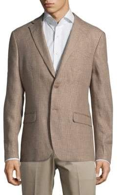 Lauren Ralph Lauren Checked Linen Jacket