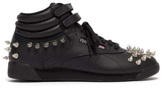 Junya Watanabe X Reebok Studded Leather High Top Trainers - Womens - Black