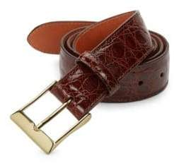 Saks Fifth Avenue Boxed Crocodile Leather Belt