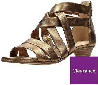 59a796397689 at Littlewoods · Clarks Mena Silk Low Heeled Sandal - Bronze Metallic