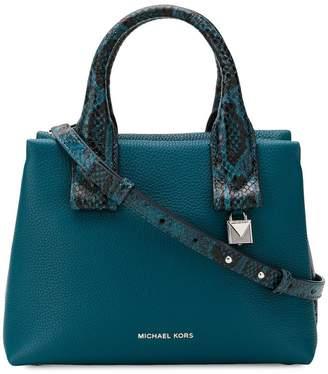MICHAEL Michael Kors Rollins small snake-embossed satchel