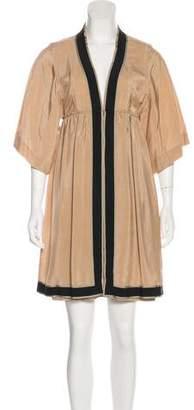 CNC Costume National Silk-Blend Mini Dress