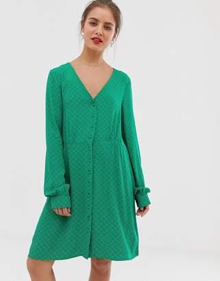 Vila spotty long sleeve tea dress