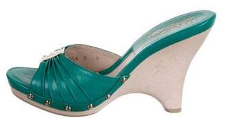 Salvatore Ferragamo Leather Slide Sandals w/ Tags