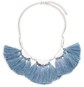 Saks Fifth Avenue Trio Tassel Fan Necklace