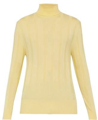 King & Tuckfield - Merino Wool Roll Neck Sweater - Mens - Yellow