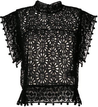 Isabel Marant Kery Embroidered Cotton Top
