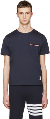 Thom Browne Navy Pocket T-Shirt $350 thestylecure.com