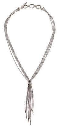 David Yurman Diamond Willow Drop Necklace
